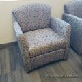 Tan & Black Patterned Sofa Armchair