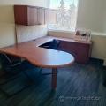 Maple U/C Suite Desk w/ LH Bullet