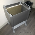 Grey Open Top Mobile Rolling File Cart