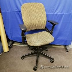 Steelcase Leap V2 Tan Pattern Adjustable Ergonomic Task Chair