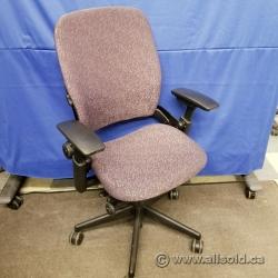 Steelcase Leap V2 Mauve Thin Leaf Pattern Ergonomic Task Chair