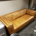 Brown High End Leather Executive Couch Sofa Loveseat