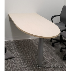 "Steelcase Blonde 72"" x 30"" Desk Bullet Run-Off"