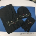 Foxy Pacific Georgia Floral Black Hat Scarf Gloves