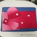 Foxy Pacific Granville Street Dark Pink Hat Scarf Glove