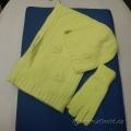 Foxy Pacific Glacier Cap Set Hat Scarf Gloves Green