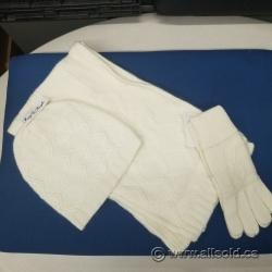 Foxy Pacific Glacier Cap Set Hat Scarf Gloves Cream