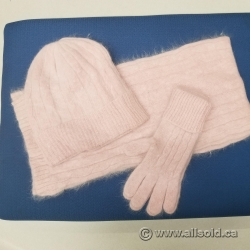 Foxy Pacific Glacier Cap Set Hat Scarf Gloves Pink