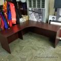 Mahogany L-Suite Desk 71in x 71in