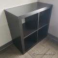 IKEA Kallax Espresso 4 Compartment Bookcase Shelf Unit 2x2