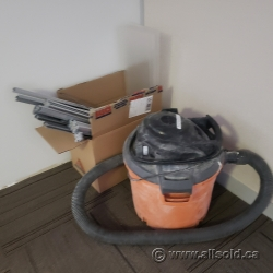 Orange and Black Shop Vacuum