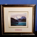 """Mountains and Lakes"" Framed Print by Lauren Harris"