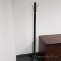 Black 4 Hook Coat Tree Stand