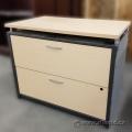 Blonde 2 Drawer Lateral Filling Cabinet, Locking