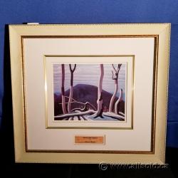 """Above Lake Superior"" Framed Print by Lawren Harris under Glass"