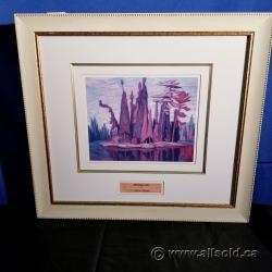 """McCallum Lake"" Framed Print by Lawren Harris"