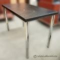 Black Height Adjustable Table w/ Chrome Legs