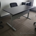 Black and Grey Training Table w/ Privacy Screen