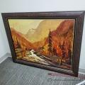 """Autumn Forrest"" 40"" x 30"" on Canvas by Jacques Poirier"