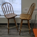 "Two Brown 29"" Tall Swivel Bar Stool Guest Chair"