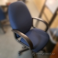Blue Adjustable Office Task Chair w/ Fixed Arms