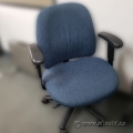 Blue Patterned Adjustable Office Task Chair