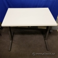"Herman Miller White Training Table w/ Privacy Screen 36"" x 24"""