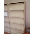 Beige Lincora Brochure, Pamphlet Display Cabinet w/ Storage