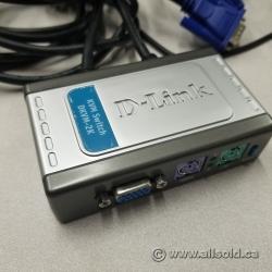D-Link DKVM-2K- 2-port PS/2 based KVM switch