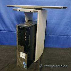 Silver Sliding CPU Sit Stand Under Desk Mount