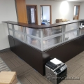 L Suite Reception Desk-Dark Espresso with Transaction Counter