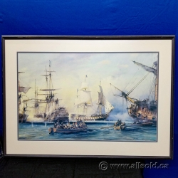 """""""The Battle of the Nile"""" Robert Taylor Framed Print under Glass"""