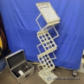 Folding Literature Rack w/ Carrying Case