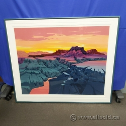 Sunrise Canyon by Michael Atkinson - Numbered Print under Glass