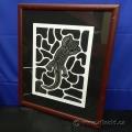 Ginjoo The Gecko by Karen Lovett - Numbered Print under Glass