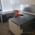 Espresso & White U/C Suite Office Desk w/ Dual Pedestal Storage