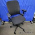 Black Steelcase Leap V2 Adjustable Ergonomic Task Chair, w/ Arms