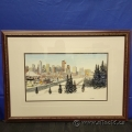 Calgary by Loren Chabot Framed Print under Glass