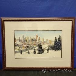 Calgary by Loren Chabot Framed Print under Glass