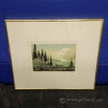 Mt. Edith Cavell by George Weber Numbered Print under Glass