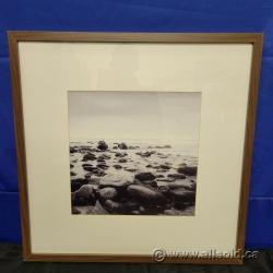 River Rock Framed Print under Glass