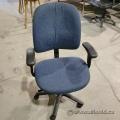 Blue Patterned Adjustable Office Task Chair