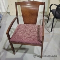 Wood Frame with Pattern Seat Guest Reception Chair