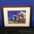 """""""Oil Refinery"""" Framed Print under Glass"""
