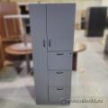 Grey 2 Door 3 Drawer Wardrobe Storage Cabinet