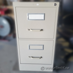 Beige 2 Drawer Vertical File Cabinet - Letter