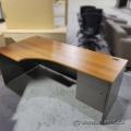 Sugar Maple & Grey Suite Desk