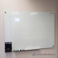 """36"""" x 48"""" Quartet Frameless Glass Dry Erase Whiteboard"""