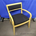 Krug Blake Maple Side Guest Chair with Black Fabric