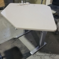 """Corner Electric Powered Sit Stand Desk 55"""" x 41"""""""